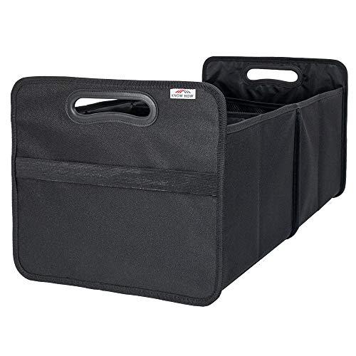 KHI Kofferraum Organizer Box Autotasche Einkaufskorb faltbar robust hochwertig 50x31x35, Geschenk für Männer und Frauen