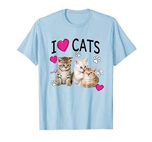 I Love Cats Shirt   Cat lover Tee - I love Kittens T-shirt T-Shirt