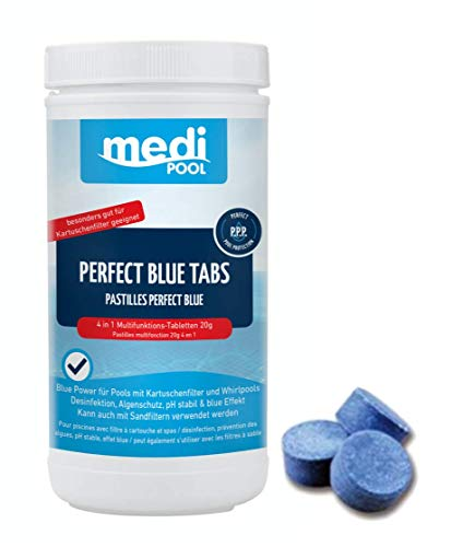 Medipool 514601MP Schwimmbadpflege Perfect Blue Tabs, 1 kg