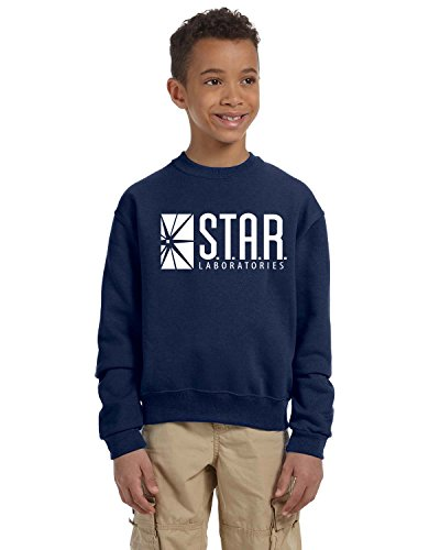 Star Lab Unisex Youth Pullover Crew Neck Sweat Shirt Large Navy