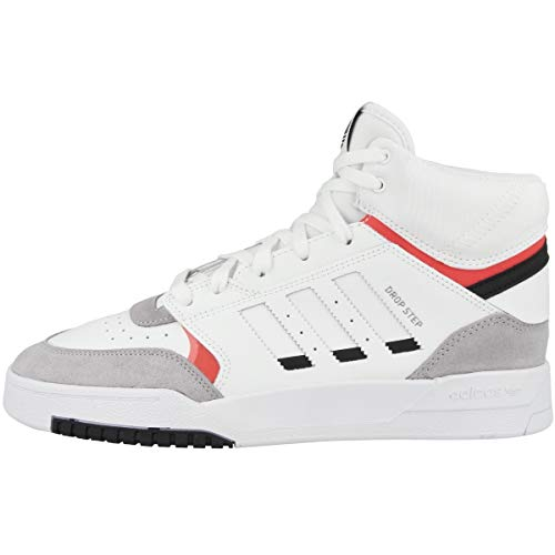 adidas Drop Step, Zapatillas Hombre, Multicolor (FTWR White/Light Granite/Solar Red Ee5220), 42 EU