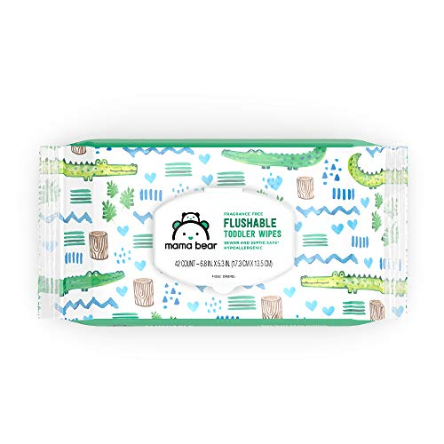 An Amazon Brand: Mama Bear Fragrance-Free Flushable Toddler Wipes