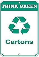 緑のカートンを考える金属錫サイン工業用サイン安全標識