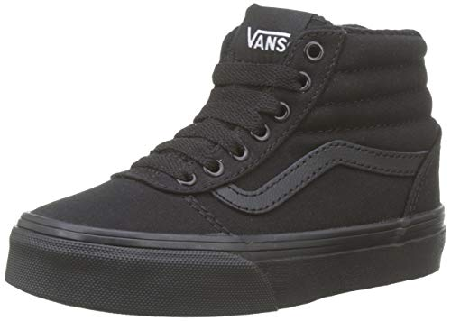 Vans Ward Hi Canvas, Jungen Niedrig, Schwarz ((Canvas) Black/Black 186), 39 EU (6 UK)