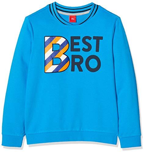 s.Oliver Jungen 63.908.41.2766 Sweatshirt, Türkis (Turquoise 6290), (Herstellergröße:116/122/REG)