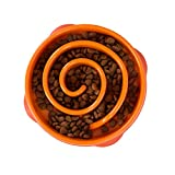 Outward Hound Fun Feeder Slo-Bowl - Ciotola anti-ingozzamento per cani - medio - arancione