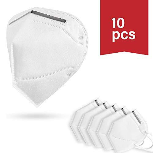 Mundschutz Maske | Mundschutz Filter | Gesichtmaske | Wiederverwendbar durch UV-Licht Sterilisator | 10 Stück