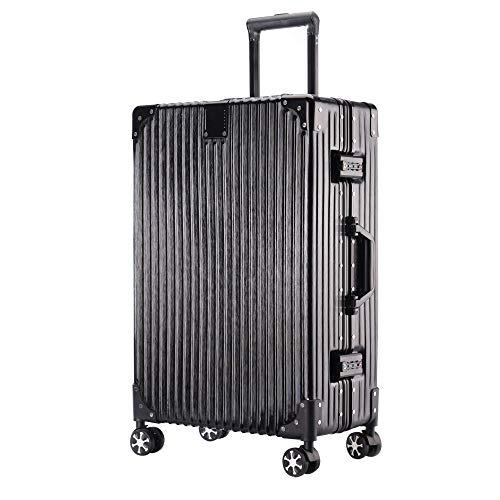 huohao Trolley koffer van volledig magnesiumlegering, hard en licht materiaal, nette lay-out, kan meer bagage inpakken