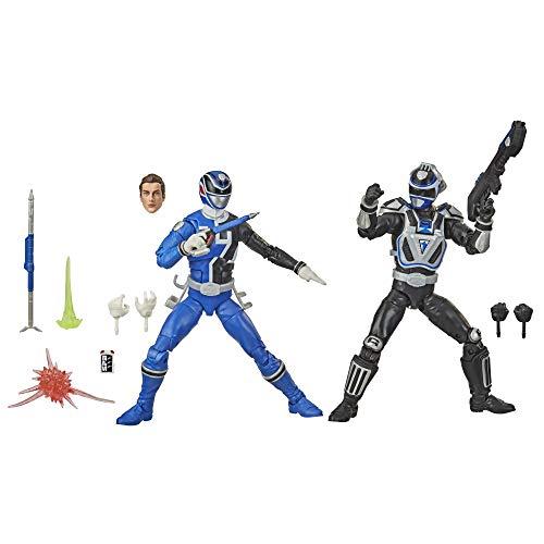Power Rangers Lightning Collection S.P.D. Squad B Blue Ranger Versus Squad A Blue Ranger 2-Pack 6-Inch Premium Collectible Action Figure Toys