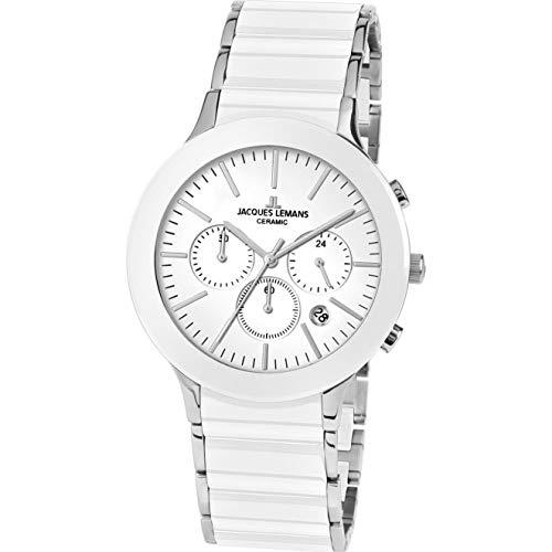 Jacques Lemans Herren Analog Quarz Uhr mit Edelstahl Armband 1-1854B