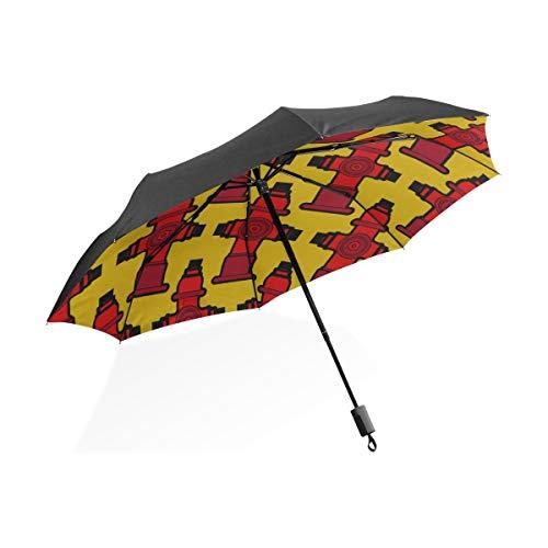 Nette Regenschirm Für Frauen Nette Kreative Cartoon Feuerlöscher Tragbare Kompakte Taschenschirm Anti Uv Schutz Winddicht Outdoor Reise Frauen Mädchen Regenschirme Für Kinder