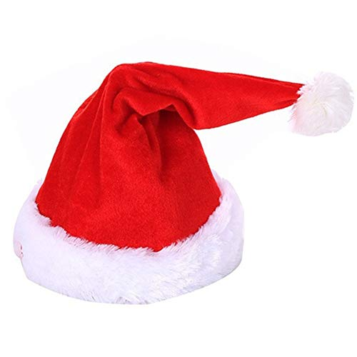 Laipi Musical Christmas Hat, Moving Warm Xmas Party Hats, Swing Singing & Dancing Santa Claus Hat Party Ornaments for Adults