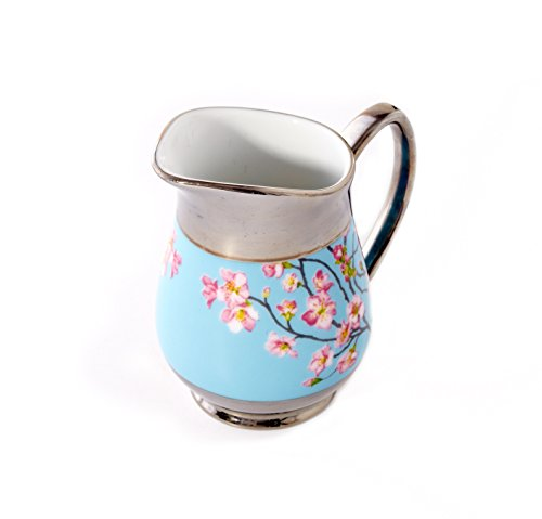 CRU by Darbie Angell Madison's April in NY Creamer, Sea Blue/Pink/Platinum/White