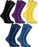Rainbow Socks - Hombre Mujer Calcetines de Felpa Calidos y Coloridos - 5...