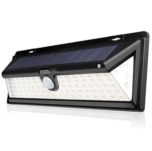 GJX Solarlampen voor buiten, 90 superheldere LED-bewegingssensoren, wandlampen, veiligheid IP65, voor voordeur, binnenplaats, garage, terras, veranda