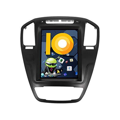 ZWNAV 10.4 'Schermo Verticale Andriod 9.0 One Din Car Stereo Sat Nav Bluetooth Navigazione GPS Per Opel Insignia Vauxhall Holden 2008-2013 Adattatore Testa Unità Wifi Carplay (4G RAM 128G ROM)