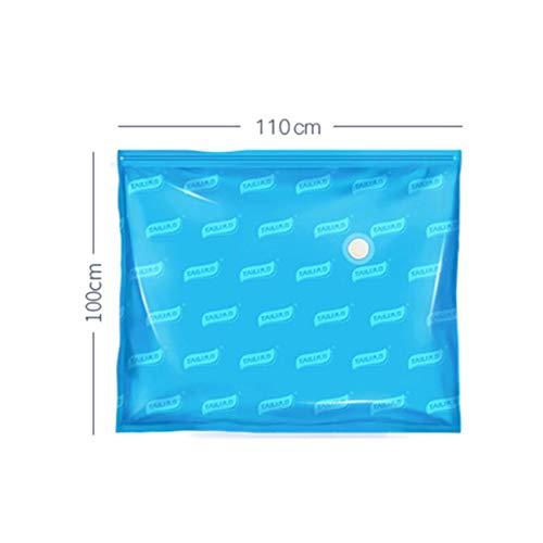 ZSDFW - Sacchetti salvaspazio per sottovuoto, con chiusura a cerniera, riutilizzabili, per piumoni, lenzuola, cuscini, vestiti, trapunte, coperte, vestiti, 110 x 100 cm