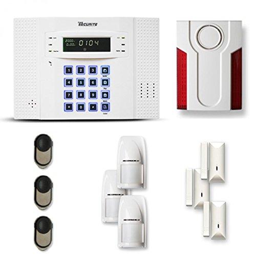 Alarme Maison sans Fil DNB 3 à 4 pièces Mouvement + Intrusion + sirène extérieure - Compatible Box Internet