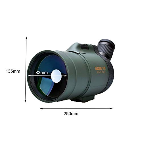 GXY Traveling to See The Scenic Telescope,25-75 X 70 Spotting Scope Ipx7 Nitrogen-Filled Waterproof Shockproof Tripods and Bags Watch Archery Travel/Scope