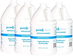 Pure & Clean Multi Surface Cleaner PRO - Hypochlorous Acid Cleaning Solution - Powerful & Non-Toxic - Used by Medical Professionals & Facilities - Electrolyzed Water & HOCl Formula - 4 Gallon