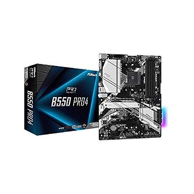 ASRock B550 PRO4 Supports 3rd Gen AMD AM4 Ryzen/Future AMD Ryzen Processors Motherboard