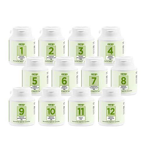 Schüssler Salze Set Nr. 1-12 je 400 Tabletten | glutenfrei | Basispaket für Ihre Hausapotheke