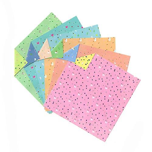 Black Temptation Regalos significativos de Doble Cara de Origami Paper para niños 96 Hojas