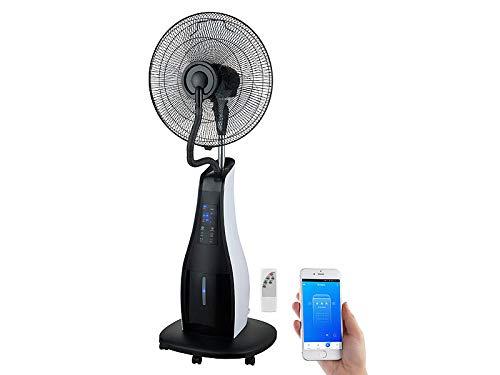 Sichler Haushaltsgeräte Luftkühler: Stand-Sprühnebel-Ventilator mit Oszillation, WLAN, App, Timer, 80 Watt (Ventilateur)