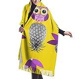 Tengyuntong Damen Wickeldecke Schal, Eulen mögen Ananas Frauen Winter warme Schal Mode lange große weiche Kaschmir Schal Wickelschals