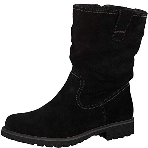 s.Oliver Damen Stiefel 26425-23, Frauen Winterstiefel, Women Woman Freizeit leger Winter-Boots fellboots Fellstiefel gefüttert,Black,42 EU / 8 UK