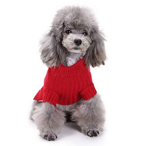 WTNL Dog Sweater Weihnachten Hunde Shirts Roter Weihnachtsbaum Pullover Halloween Herbst Winter Hund Teddy Ferien Hunde-Bekleidung (Color : Red, Size : S)