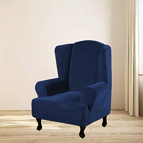 SLOUD Stretch Wing Chair Schonbezug, Soft Velvet, Wingback Chair Slipcover, waschbar, Wingback Chair Cover, Wingback Chair Slipcover-H