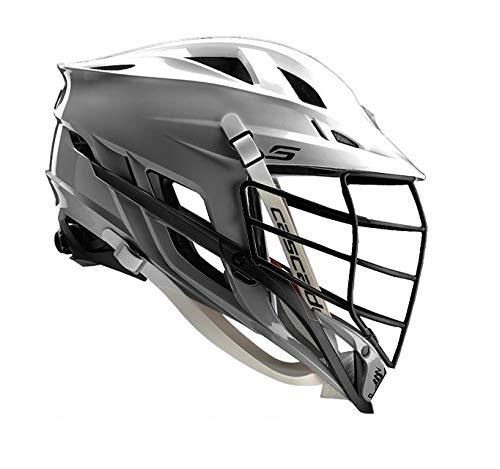 Amazon Cascade S Lacrosse Helmet Customizable-Silver-Black Facemask