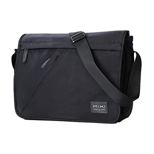 Umhängetasche 14 Zoll 10L Messenger Bag Große Kapazität Herrentasche wasserdichte Waschbare Halter Nylon Schultertasche mit Gurt Shoulder Bag für 14