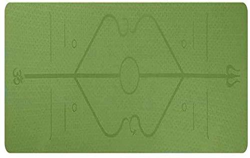 QZ 147258 Classic Professionale Gomma Naturale Yoga Mat TPE Antiscivolo Uomini e Donne Ispessimento Yoga, Pilates e Ginnastica 183 x 61 x 0.6CM, Dimensione: 183x61x0.6CM, Colore: Rosa