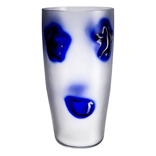 Glazen Bohemia Cosmos vaas, glas, wit, 22 x 22 x 45 cm