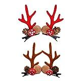 KESYOO 4pcs Halloween Hairpin Adorable Deer Antler Elegant Barrettes Hair Clips Bang Clip Hairpin for Kids Girls