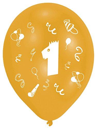 Amscan Leeftijd 1, 8 Latex Ballonnen 2 Zijdelings 1 Kleur 25,4 cm