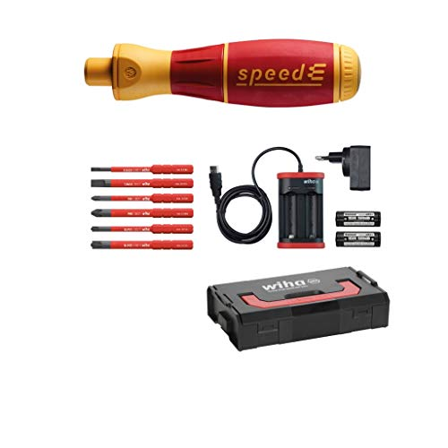 Wiha E-Schraubendreher Set 1 speedE® electric, 10-tlg: in L-Boxx Mini mit 6x slimBits, 2x Batterien und Ladegerät EU