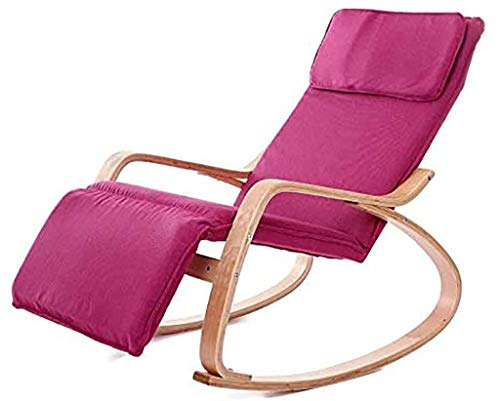 lilizhang La decoración del hogar cómodo Relax Cojín de Madera Mecedora con el pie diseño del...