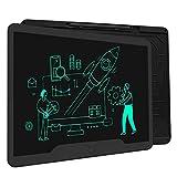 Richgv Tableta de Escritura LCD 15 Pulgadas, Pizarra Digital Talla Grande, Pizarra Electrónica para Dibujar, Tableta gráfica Adecuada para la Escuela, la Oficina, el hogar (Negro)