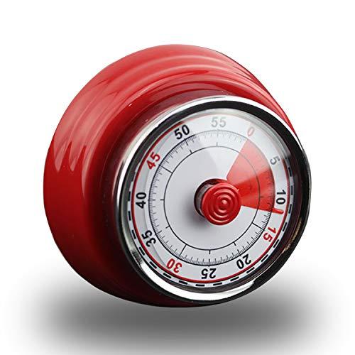 Küchentimer Mechanisch, Timer, Küchentimer Magnetisch, Edelstahl Küchen Timer Retro Vintage, Küchenwecker Kurzzeitmesser Eieruhr, Ideal Küchenuhr Timer zum Kochen, Backen, Sport, Studieren usw