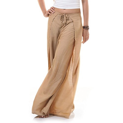 Princess of Asia Thai Hose Wickelhose Hosenrock Wickelrock Beige