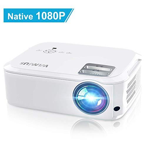Proyector, WiMiUS 6000 Lúmenes Proyector Full HD 1920x1080P Nativo Proyector Cine en Casa...