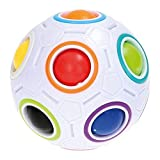 Dudniks Magic Rainbow Rainbow Puzzle Ball, Speed Cube 3D Puzzle Ball Anti estrés emocionante juego Magic Ball para niños y adultos