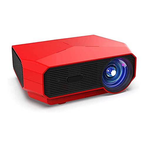 ZSCC Proyectores de video, Proyector con mini proyector Pantalla de proyección 4600lm con pantalla de 200 ', Proyector compatible con 1080p, Altavoces de alta fidelidad, Compatible con HDMI, USB, Vga,