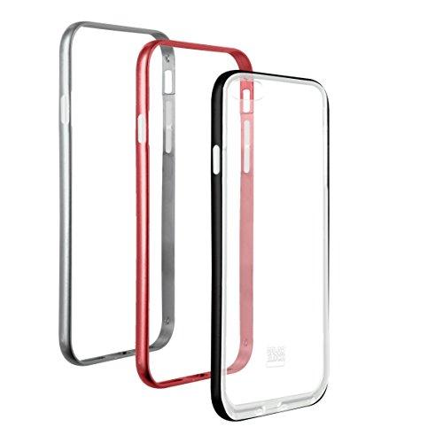 Colorblock–Set di 3Bumper per iPhone 6/6S/7Argento/Bordeaux/Grigio siderale