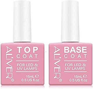 Base E Top Coat Semipermanente Smalto Semipermanente Per Unghie Gel Uv Led Soak Off Kit Per Manicure Smalti Gel Per Unghie...