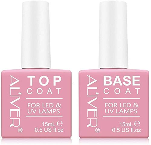 Base E Top Coat Semipermanente Smalto Semipermanente Per Unghie Gel Uv Led Soak Off Kit Per Manicure Smalti Gel Per Unghie Kit Semipermanente Unghie 2×15ml