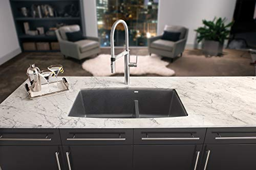 BLANCO, Anthracite 441312 PERFORMA SILGRANIT 60/40 Double Bowl Undermount Kitchen Sink with Low Divide